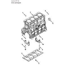 Блок цилиндров двигателя Cummins/Камминз ISF 3.8 Валдай Паз Фотон Маз Зубренок 5256400 5289698, фото 1