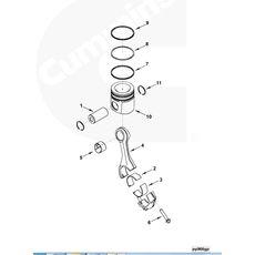 Вкладыши шатунные (комплект вверх и низ ) двигателя Камминз модели 4/6BT / ISBe / ISDe 3939859 3969562 3901170, фото 3