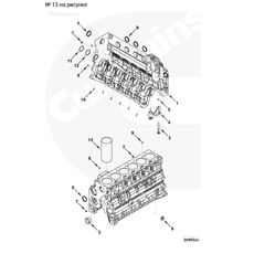 Гильза блока цилиндров  двигателя Cummins ISF 3.8, ISBe, EQB, 4/6 BT, фото 2