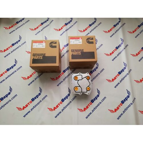 Маслоохладитель (теплообменник) Cummins ISF 2.8 5266955 Газель Бизнес Некст, фото 4