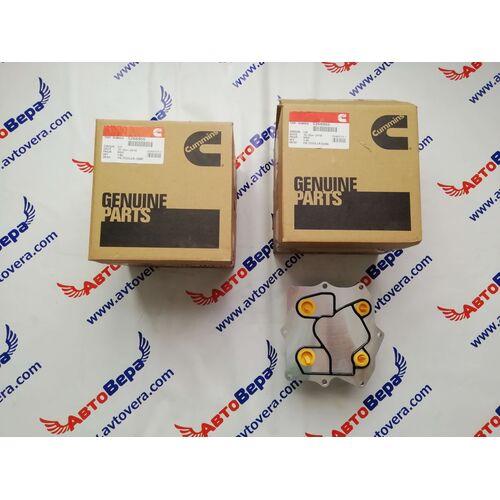 Маслоохладитель (теплообменник) Cummins ISF 2.8 5266955 Газель Бизнес Некст, фото 3