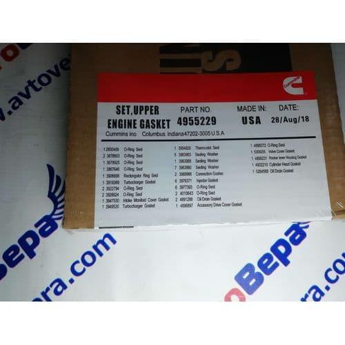 Ремкомплект верхний  (прокладки) 4955229 Камминз  Cummins 6 ISBe/QSB 6.7, фото 4