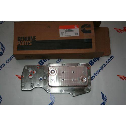 Маслоохладитель (теплообменник) двигателя Cummins -- Камминз 6ISBe  Арт. 3975818, фото 1